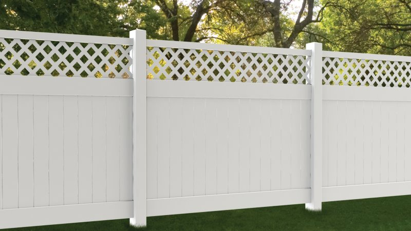 Vinyl Commercial fencing in Georgia